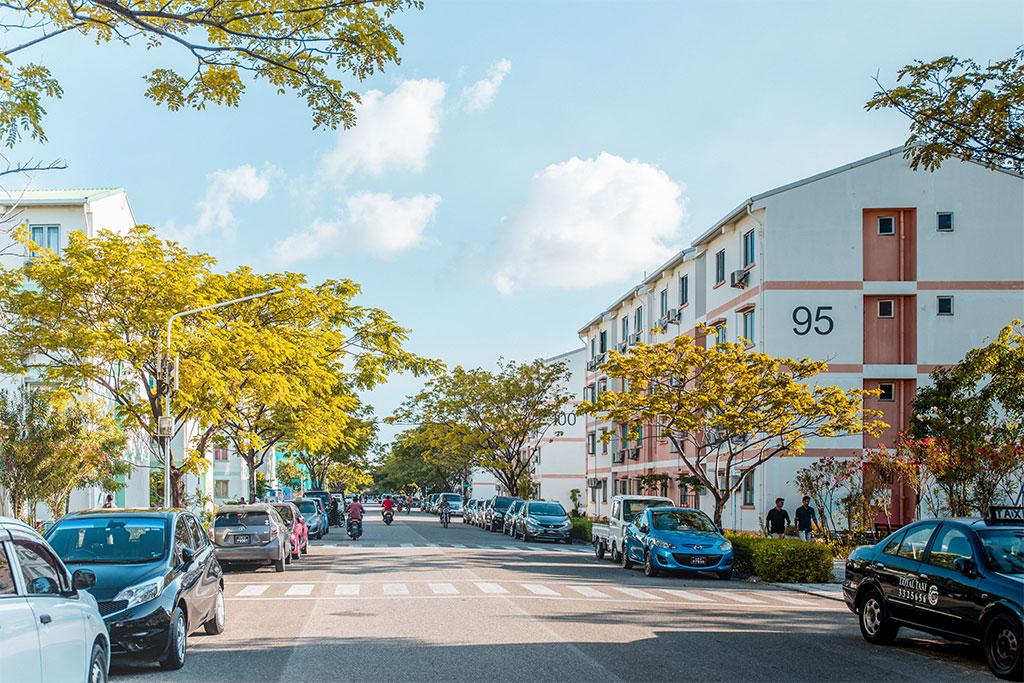 Condo complex street view